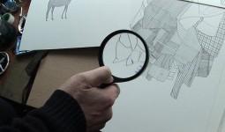Drawings by Nigel Peake, through the looking glass