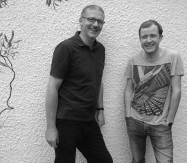 Above: Paul Clarke (left) and  Conor McCafferty